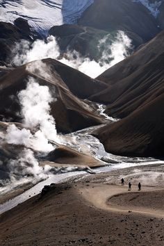 Valley in the Kerlingarfjoll area with geothermal activity - Iceland