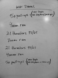 This wod's a killer  after 3 rounds. Fun though