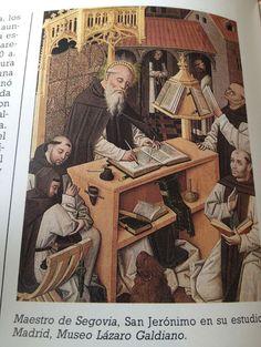 Los monjes en los monasterios reproducían a mano las sagradas escrituras durante la Edad Media