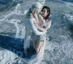 Ice Fantasy Li Luo and Ka Suo dancing on the ice.