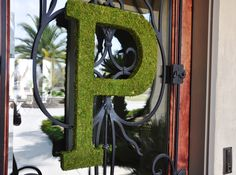 Mossy Monogram instead of a wreath. And easy to do too