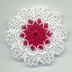 Dollhouse Miniature crocheted Doily  White by BlackLeopardCreation
