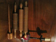 Antique 1800s New England Wooden Treen Rolling Pins and Maple Wood Turned Whisk Sold  North Bayshore Antiques