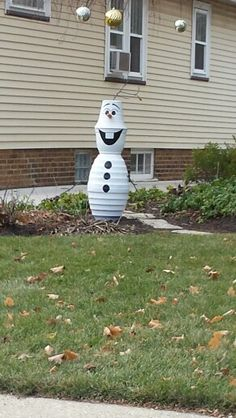 So very cute Olaf out of flower pots
