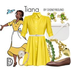 Tiana by leslieakay on Polyvore featuring I'm Isola Marras, Lacoste, Forever 21, Betsey Johnson, Mikimoto, Imperial, Michael Kors, disney and disneybound