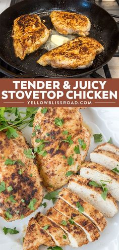 Stove Top Chicken Breasts (Best Chicken Recipes) This Stovetop Chicken Breast is so incredibly tender and juicy and takes only 25 minutes from start to finish. It's one of the best chicken recipes there is! Grilled Chicken Recipes, Healthy Chicken Recipes, Cooking Recipes, Stove Chicken Recipes, Chicken Breast Recipes Dinners, Entree Recipes, Dinner Recipes, Stove Top Chicken, Chicken Stovetop