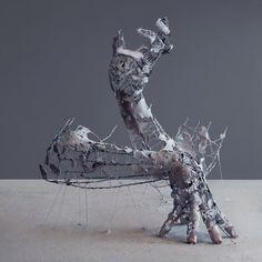 Yoichi Ikehata - Fragment of LTM7  #art #hands #surreal