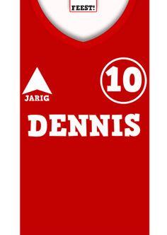 #Voetbal.Stoere kaart met voetbalshirt.Ook andere clubshirts!!!Voetbalshirt zelf invullen g - Verjaardagskaarten - Kaartje2go