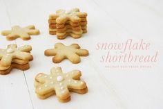 Snowflake Shortbread Cookie Recipe   Dog Treat Recipe   Pretty Fluffy