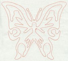 Butterfly Quilting Square (Single Run) design (S2434) from www.Emblibrary.com