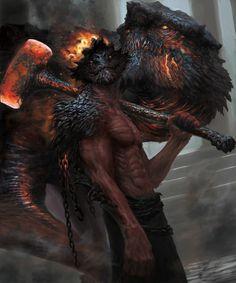 PHOTO OF monsters_worls … - Wallpaper Dark Fantasy Art, Fantasy Artwork, Dark Art, Fantasy Creatures, Mythical Creatures, Dark Creatures, Fantasy Character Design, Character Art, Character Ideas