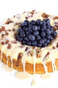 Fresh Blueberry Coffee Cake Recipe - RecipeGirl.com #CoffeeTime