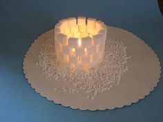 Free lantern igloo for crafting. Simple lantern for tinkering in winter . - Free lantern igloo for crafting. Simple lantern for tinkering in winter or at Christmas with childr -