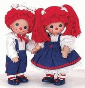 "Moptop Mary & Will 12"" Dolls by Precious Moments **Price is for ONLY ONE MOP TOP WILL available** U$35"
