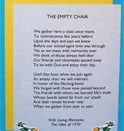 class reunion ideas - Bing Images The Empty  Chair