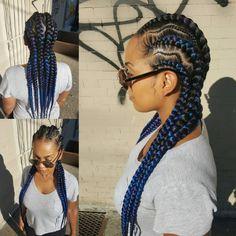 Nice braids via @tasha_worldofstyles - Black Hair Information Community