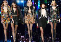 curiousandamused | Fashion Week Saint Laurent SS15