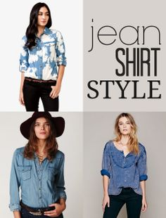 Fashion Friday: Jean Shirt Style #fashion #style #clothing