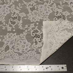 Tan Norah Pattern Floral Lace Fabric Vintage Wedding Lace Fabric - 1 Yard Style 130  Tan Norah Pattern Floral Lace Fabric Vintage Wedding Lace Fabric
