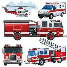 Fire Truck Vehicle Wall Decals~Create a dramatic fire engine room theme instantly with our peel and stick removable and reusable wall stickers. Easy up- easy down! Long Fire Truck Mural Decal other fire vehicles mural decals are Boy Decor, Boys Room Decor, Boy Room, Reusable Wall Stickers, Fire Truck Room, Large Wall Decals, Boys Room Design, Murals For Kids, Emergency Vehicles