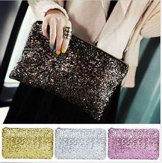 73f49d95a Cheap Entrega gratuita Dazzling lentejuelas bolso de mano fiesta noche  bolsos cartera monedero Glitter Day lentejuela
