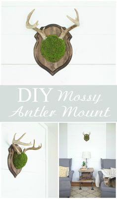 DIY Mossy Antler Mou