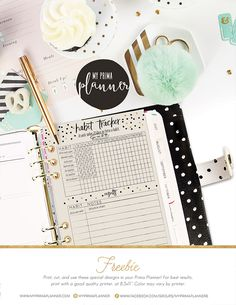 Free Printable Habit Tracker from My Prima Planner {email required}