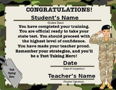 This is a certificate that can be given to your students after they have completed a test prep boot camp or even one of my study guides. It will show them that they are ready for that big state test! A fun way to give a extra boost of confidence!If you haven't checked out my test prep study guides, here are the…