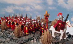 Výsledek obrázku pro roman village diorama lego