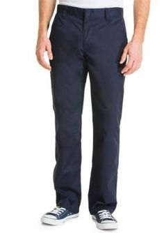Lee Navy Slim Fit Straight Leg Pants