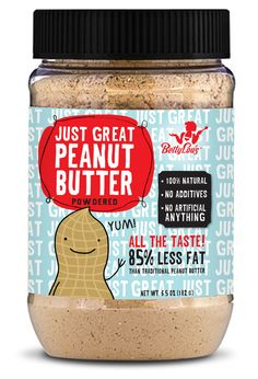 Just Right Peanut Butter Packaging by Next Door. Cute #packaging. Who's tried powdered peanut butter? PD