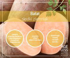 Często to, co słodkie, jest także zdrowe. Idealnym przykładem jest batat – ziemniak, który nie tylko świetnie smakuje, ale również niesie ze sobą wymierne korzyści dla naszego zdrowia. Toż to prawdziwa warzywna słodkość! :) Polecamy przepis na pyszny krem z batatów: http://bit.ly/1iStV3h  #ageless #wiecznamlodosc #batat #ziemniak #przepis #wzrok www.ageless.pl