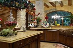 Beautiful kitchen in Texas hill country