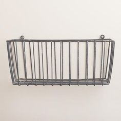 One of my favorite discoveries at WorldMarket.com: Galvanized Ashton Basket