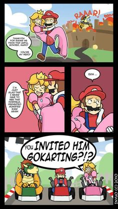 Yea, when you think about it, why was he invited to Mario Kart? Haha