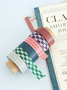 Japanese masking tape - wonderful patterns. #tape #giftwrapping