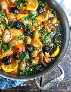 These Moroccan Chicken Thighs are tender, rich with flavor and simple to make. Chicken thighs, carrots, onions and diced tomatoes cooked in Moroccan spices. // A Cedar Spoon