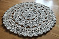 doily t-shirt rug crochet tutorial pattern