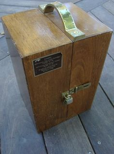 Vintage Wooden Wine Case Chest Storage Box With Brass Lock And Handle Red Velvet…