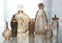 ❤ - René Jules Lalique | Bottles group brown.