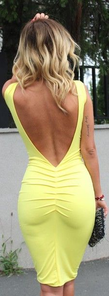 open back midi dress