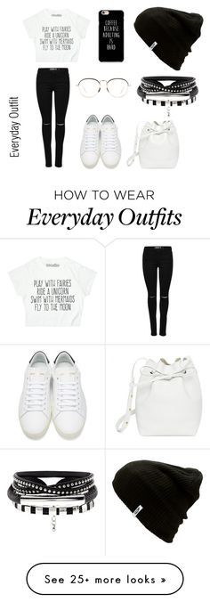 """""""Everyday Outfit"""" by pukingmuke on Polyvore featuring Yves Saint Laurent, Mansur Gavriel, Linda Farrow and Vans"""