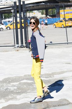 Martha Graeff wearing the Jimmy Choo BRAN flats out and about at #NYFW
