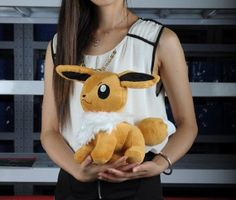 Eevee Pokemon Plush Toy Large Stuffed Doll Anime by PlushFriend, $19.99 - eevee is my favourite pokemon!!!!