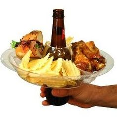 The Go Plate Reusable Food & Beverage Holder.  This looks like something my husband would use.  Kinda cool!