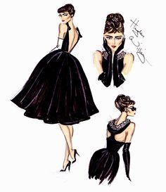 #Hayden Williams Fashion Illustrations  #Audrey Hepburn 20th Anniversary by Hayden Williams