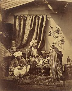 Roger Fenton, Pasha and Bayadere, London, 1858.  Source: Getty Museum