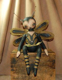 Dragonfly art doll.