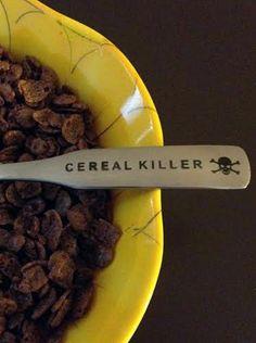 """""""Cereal Killer 2"""" Spoon #InkedShop #cerealkiller #novelty #spoon #humor"""