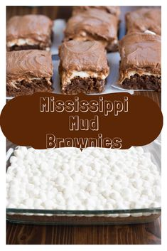 MISSISSIPPI MUD BROWNIES My preferred one-bowl brownie formula bested with warm gooey marshmallows and chocolate icing Brownie Frosting, Brownie Cake, Chocolate Icing, Chocolate Recipes, Brownie Recipes, Cookie Recipes, Bread Recipes, Baking Recipes, Healthy Recipes